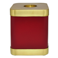 Brass Square Dog Urn- Scarlet