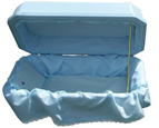 Additional view of Blue Double Wall Deluxe Pet Casket