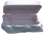Additional view of Pink Double Wall Deluxe Pet Casket