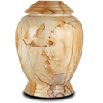 Modern Marble Pet Urn Teakwood
