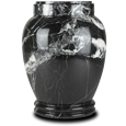 Plain Marble Pet Urn Black Zebra
