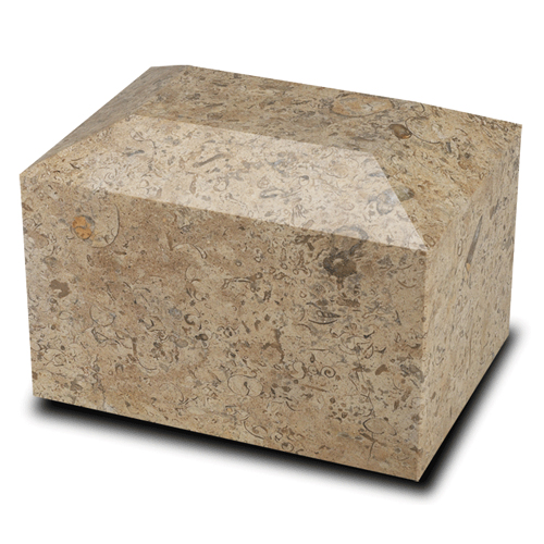 Rectangular Marble Pet Urn Fossil