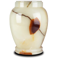 Plain Marble Pet Urn Light Green Onyx