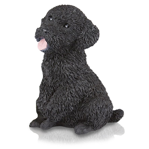 Figurine Dog Urns Miniature Poodle Black