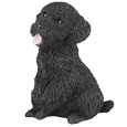 Figurine Dog Urns: Miniature Poodle Black
