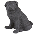 Figurine Dog Urns Pug Black