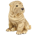 Figurine Dog Urns Shar Peis Tan