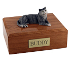 Cat Urns Tabby, Gray