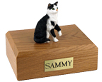 Cat Urns Tabby, Black/White, Shorthair