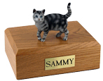 Cat Urns: Tabby, Silver, Shorthair - Standing