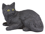 Figurine Cat Urns Shorthair Cat, Black