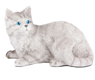 Figurine Cat Urns Shorthair Striped Gray Tabby Cat