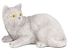 Figurine Cat Urns Shorthair Cat, Light Gray