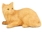 Figurine Cat Urns Shorthair Cat, Orange