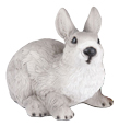 Figurine Gray & White Rabbit Urn