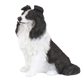 Figurine Dog Urns Border Collie