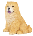 Figurine Dog Urns Chow, Red