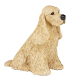Figurine Dog Urns Cocker Spaniel Buff