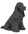 Figurine Dog Urns Cocker Spaniel, Black
