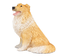 Figurine Dog Urns Collie Orange & White