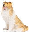 Figurine Dog Urns Collie Tricolor