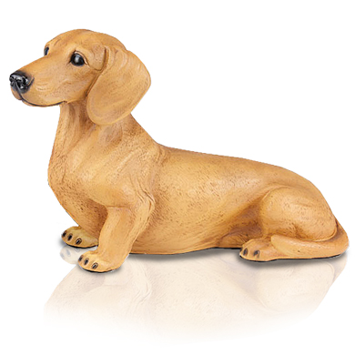 Figurine Dog Urns Dachshund, Shorthair Red