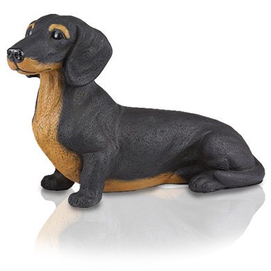 Figurine Dog Urns Dachshund, Shorthair Black
