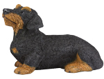 Figurine Dog Urns Dachshund, Wirehaired Black
