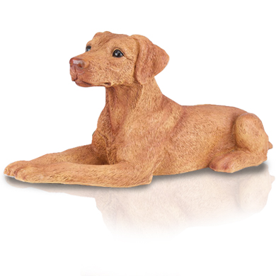 Figurine Dog Urns Doberman Pinscher Red