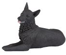 Figurine Dog Urns German Shepherd Black