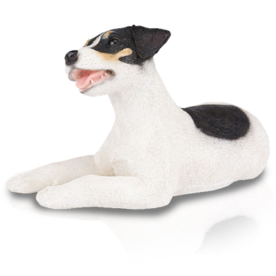 Figurine Dog Urns Jack Russell Tricolor