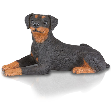 Figurine Dog Urns: Miniature Pinscher Ears Down
