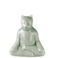 Front view of Buddha Kitty Keepsake Urn
