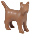 Dog Figure Ceramic Cremation Urn (shown in coco)