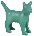 Dog Figure Ceramic Cremation Urn (shown in jade)