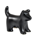 Black Puppy Figure Ceramic Cremation Urn Keepsake