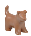 Cocoa Puppy Figure Ceramic Cremation Urn Keepsake