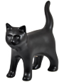 Black Kitty Figure Ceramic Cremation Urn Keepsake