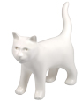 White Kitty Figure Ceramic Cremation Urn