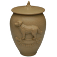 Dog Artisan Pet Urn- Inscription Option