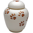 Paw Prints Kitty Artisan Urn