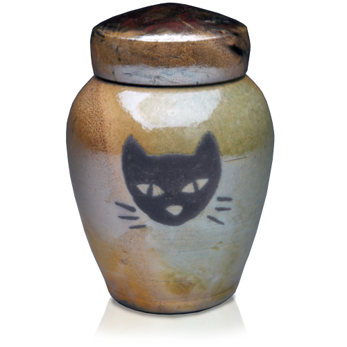Kitty-Face Artisan Pet Urn