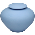 Ocean Tide Biodegradable Pet Urn shown in blue