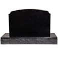Back view of Pet Burial Photo Granite Marker- Traditional