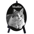 Pet Photo Memorial Plaque- Oval