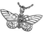 Pet Cremation Jewelry Chrome Butterfly