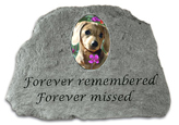 Garden Stone Pet Memorial Forever Remembered Photo Insert