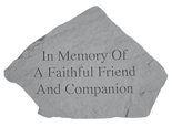 Garden Stone Pet Memorial In Memory of a Faithful Friend
