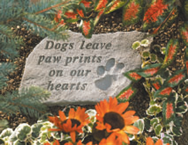 Garden Stone Pet Memorial Dogs Leave Paw Prints