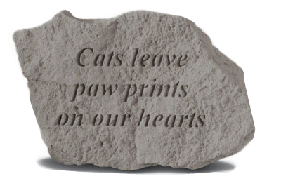 Garden Stone Pet Memorial: Cats Leave Paw Prints On Our Hearts